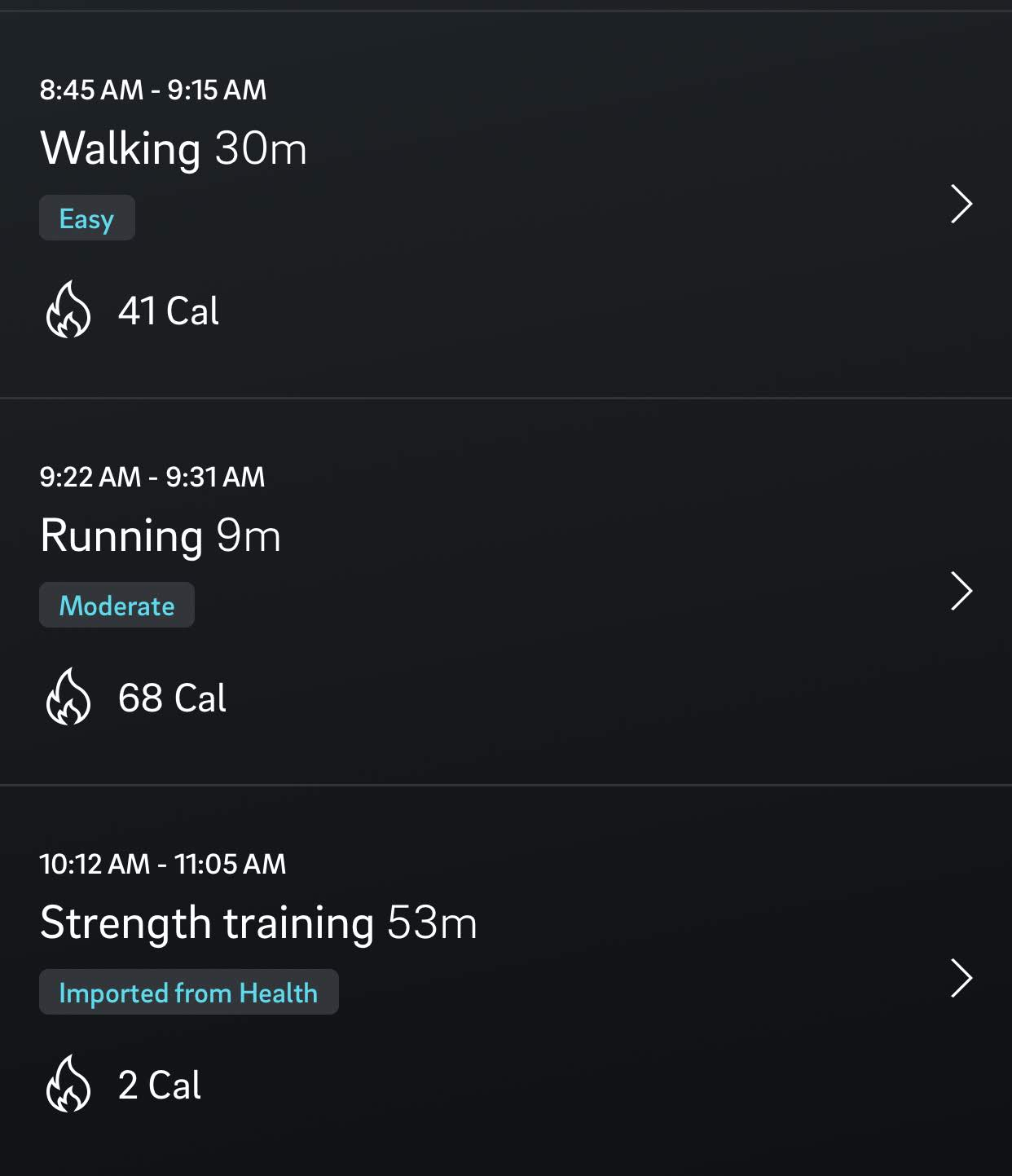 I have to manually enter any workouts into the Oura app, and I'm sure I burned more than 2 calories breathing during my 53 minute strength training workout. It was hard, I swear!