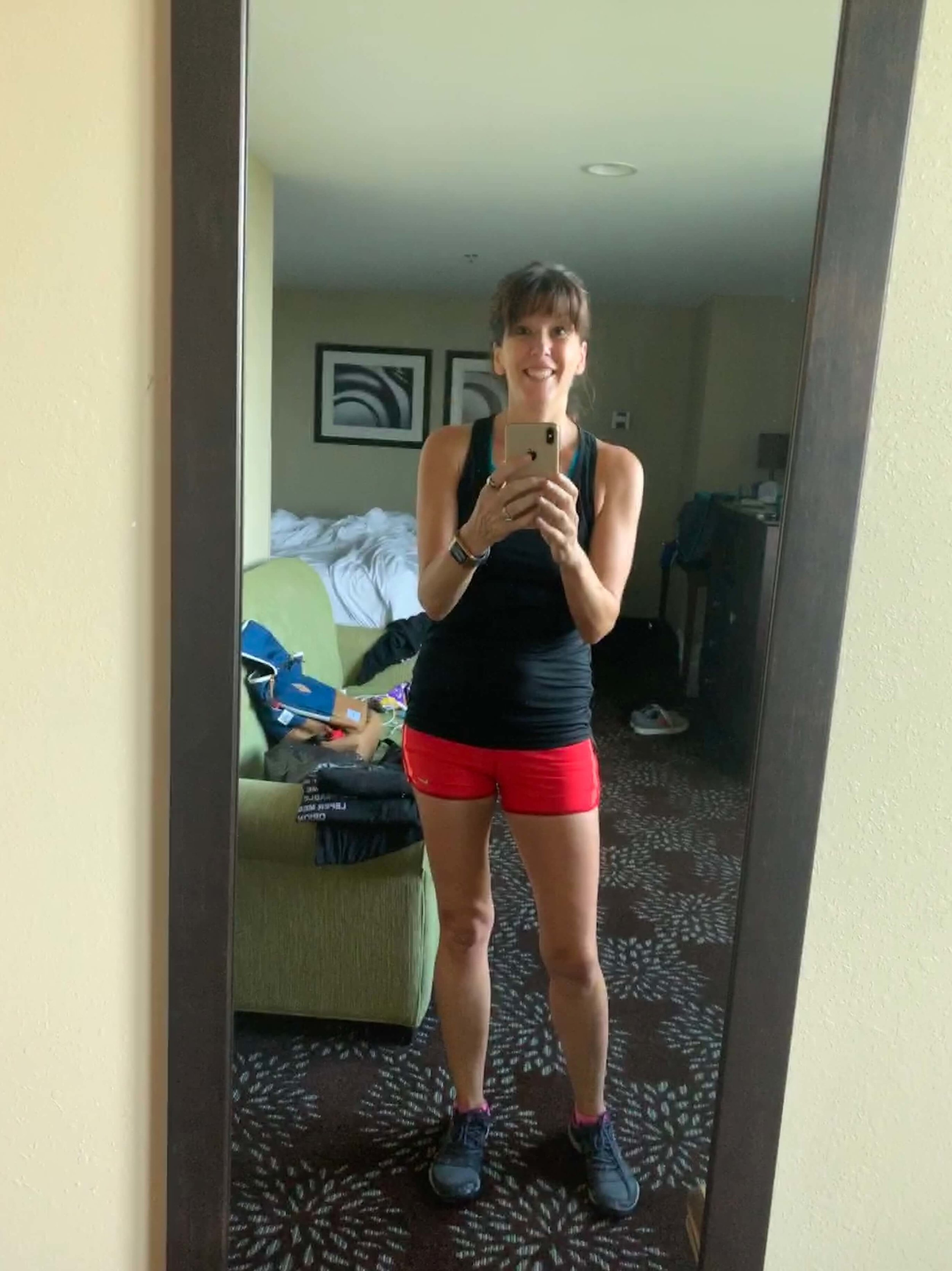 Pittsburgh hotel run streak selfie