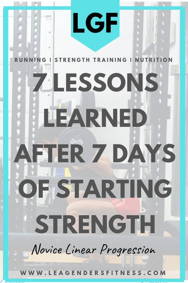 Seven lessons learned after seven days of Starting Strength Novice Linear Progression. Save to Pinterest to share or read later.