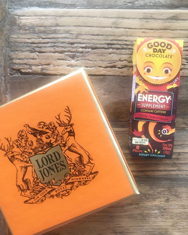 Gonna need a little help from my friends today! @thelordjones & @gooddaychocolate + @aukalife = ⚡️⚡️