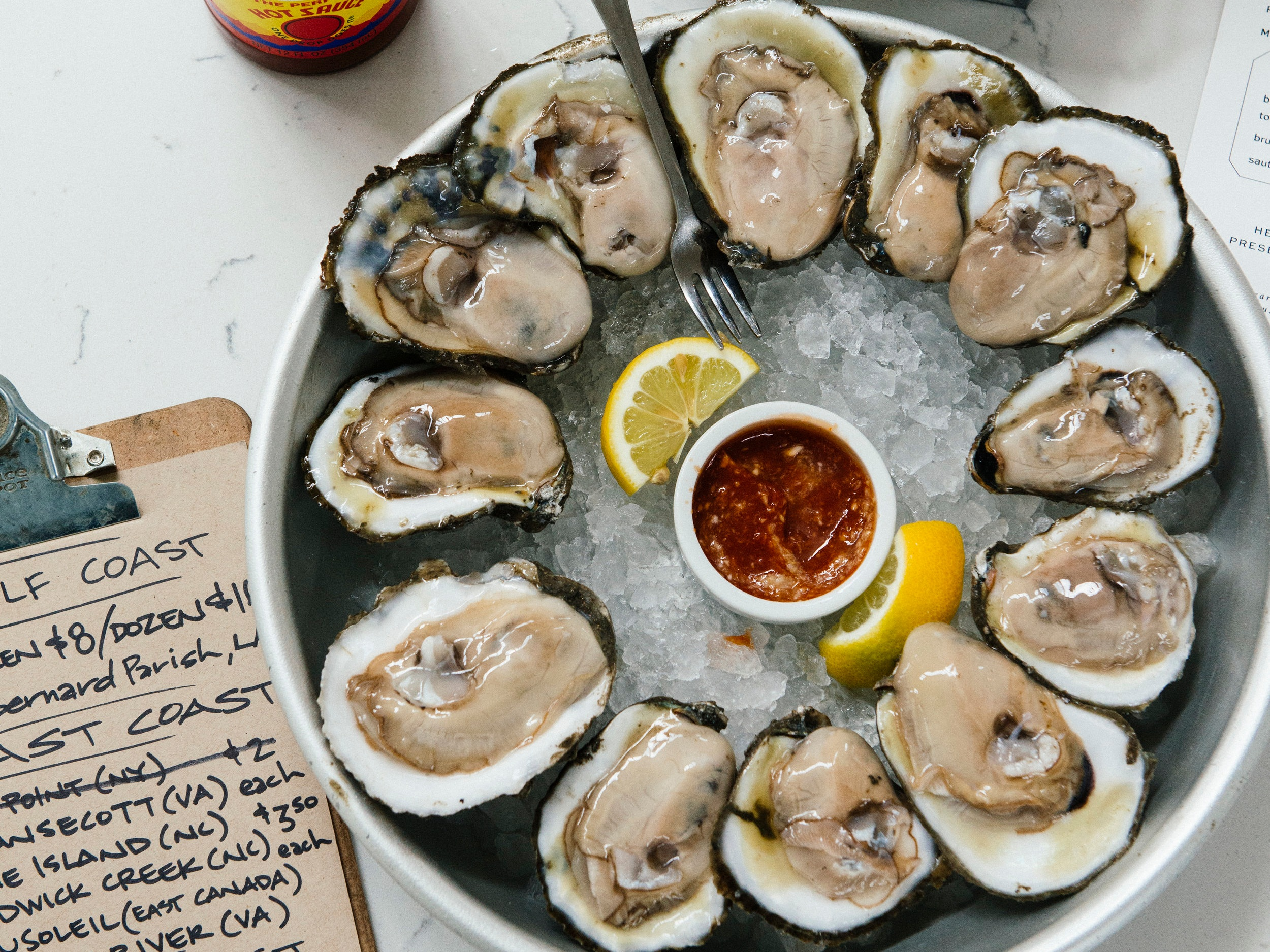 destinations - (when the going gets tough, the tough get going…preferably, someplace with oysters.)