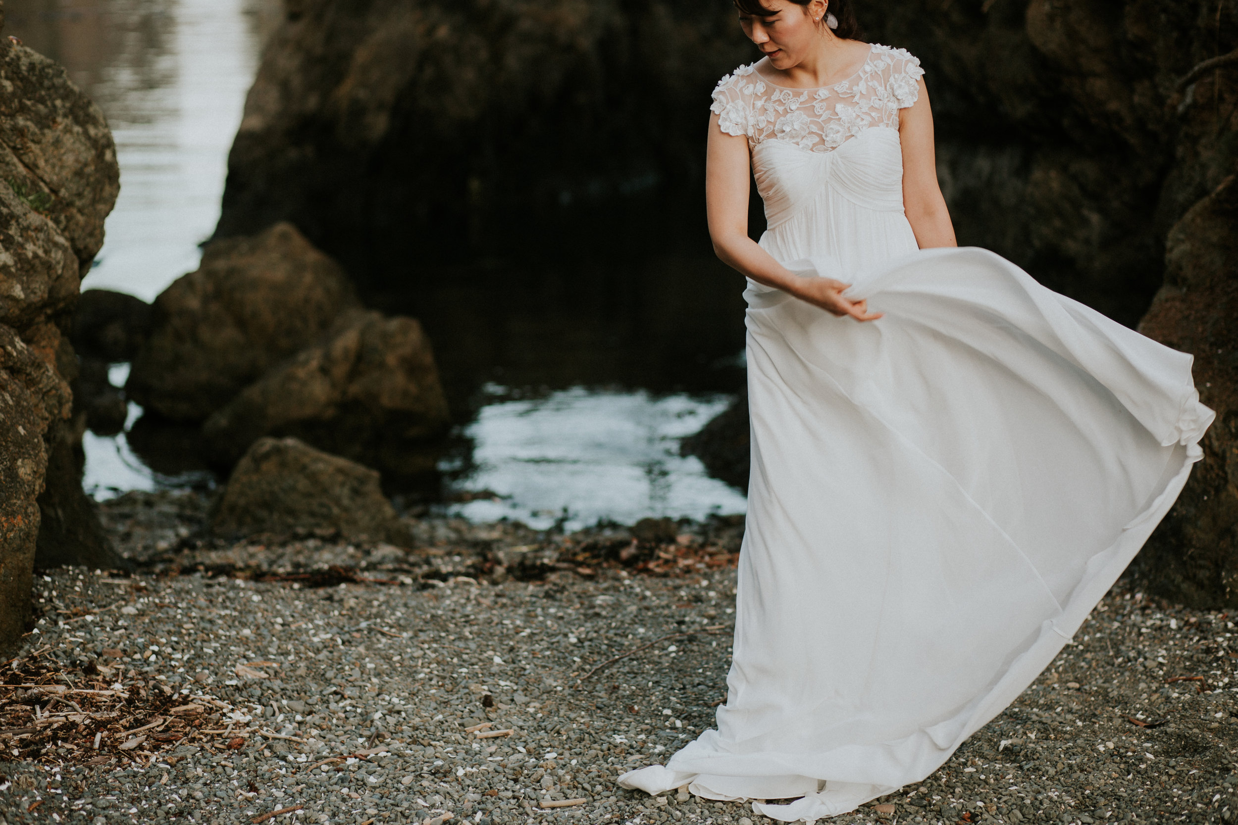 engagement dress bride seattle