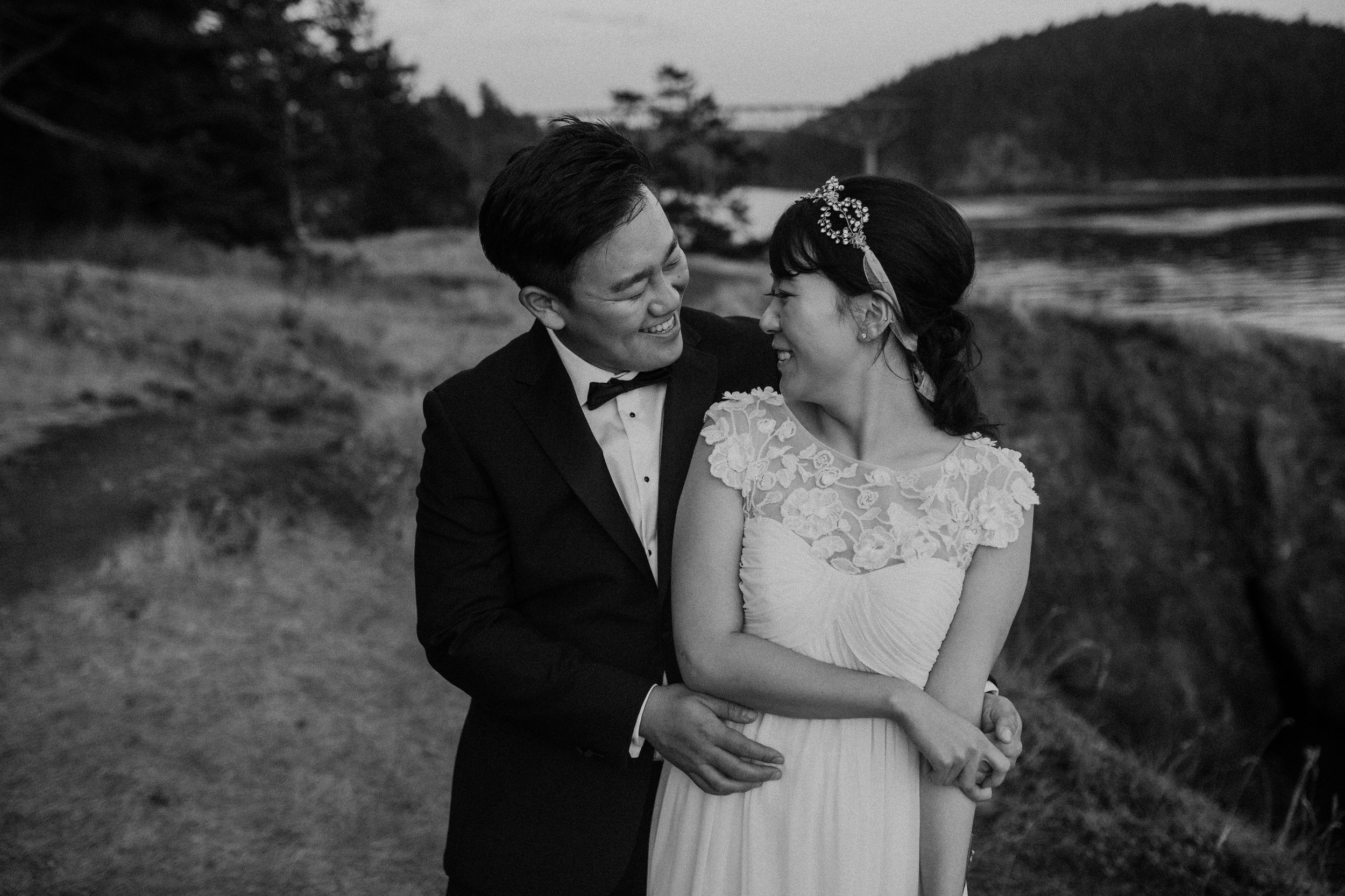 widding black and white