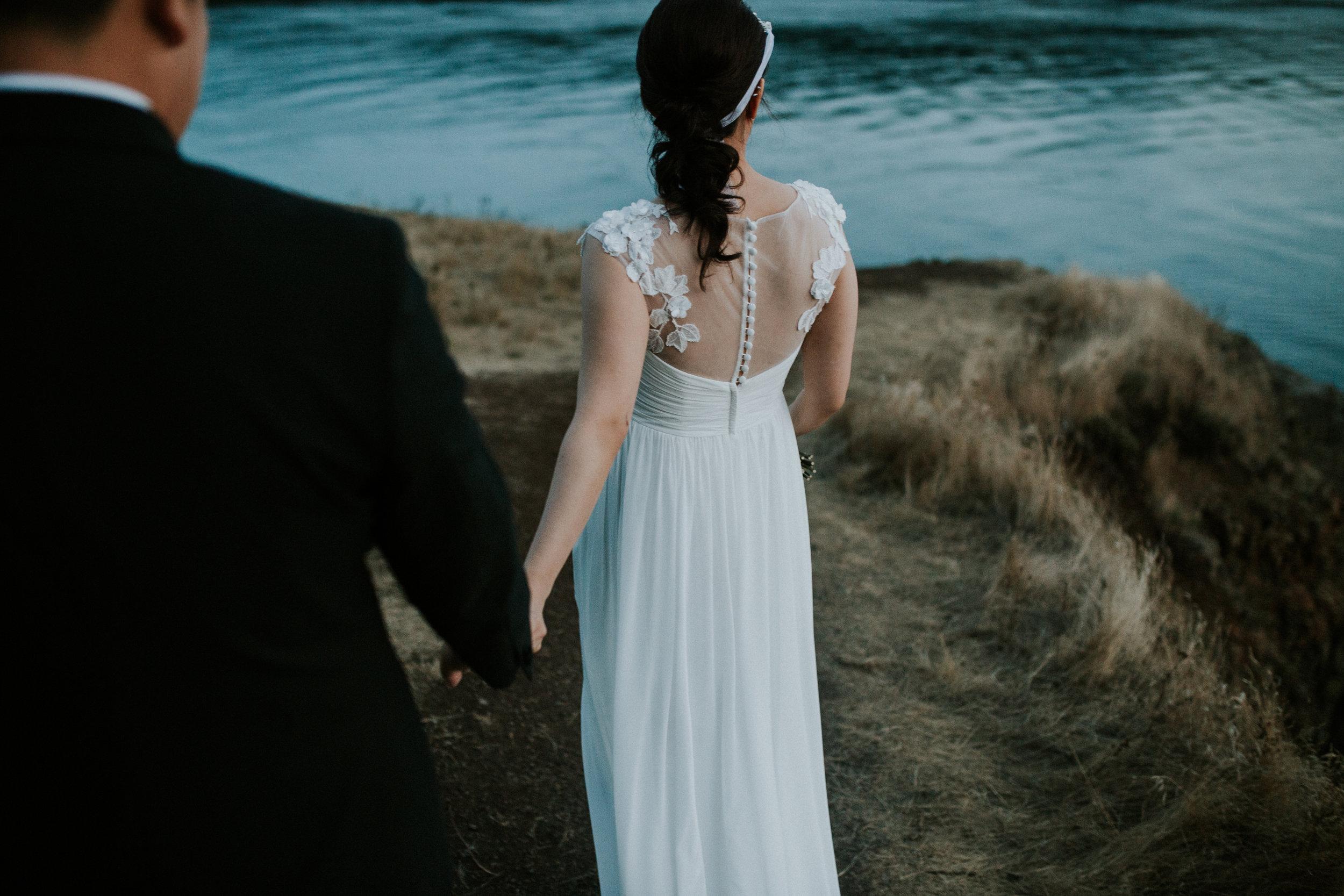 holding wedding hands seattle