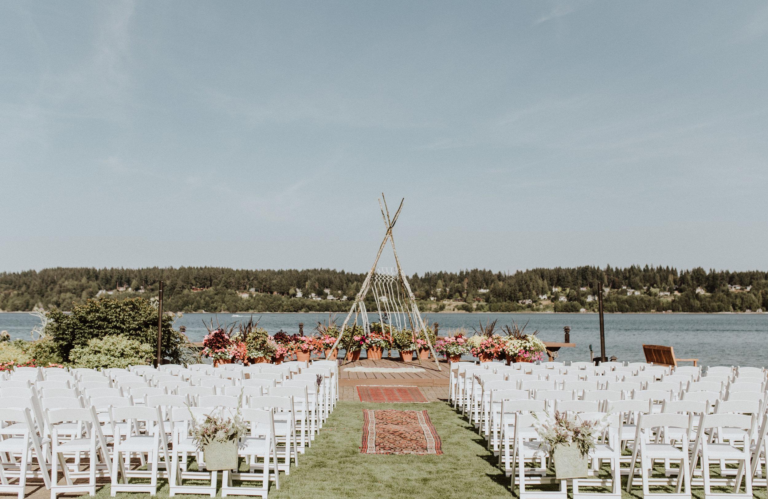 kiana lodge wedding venue day