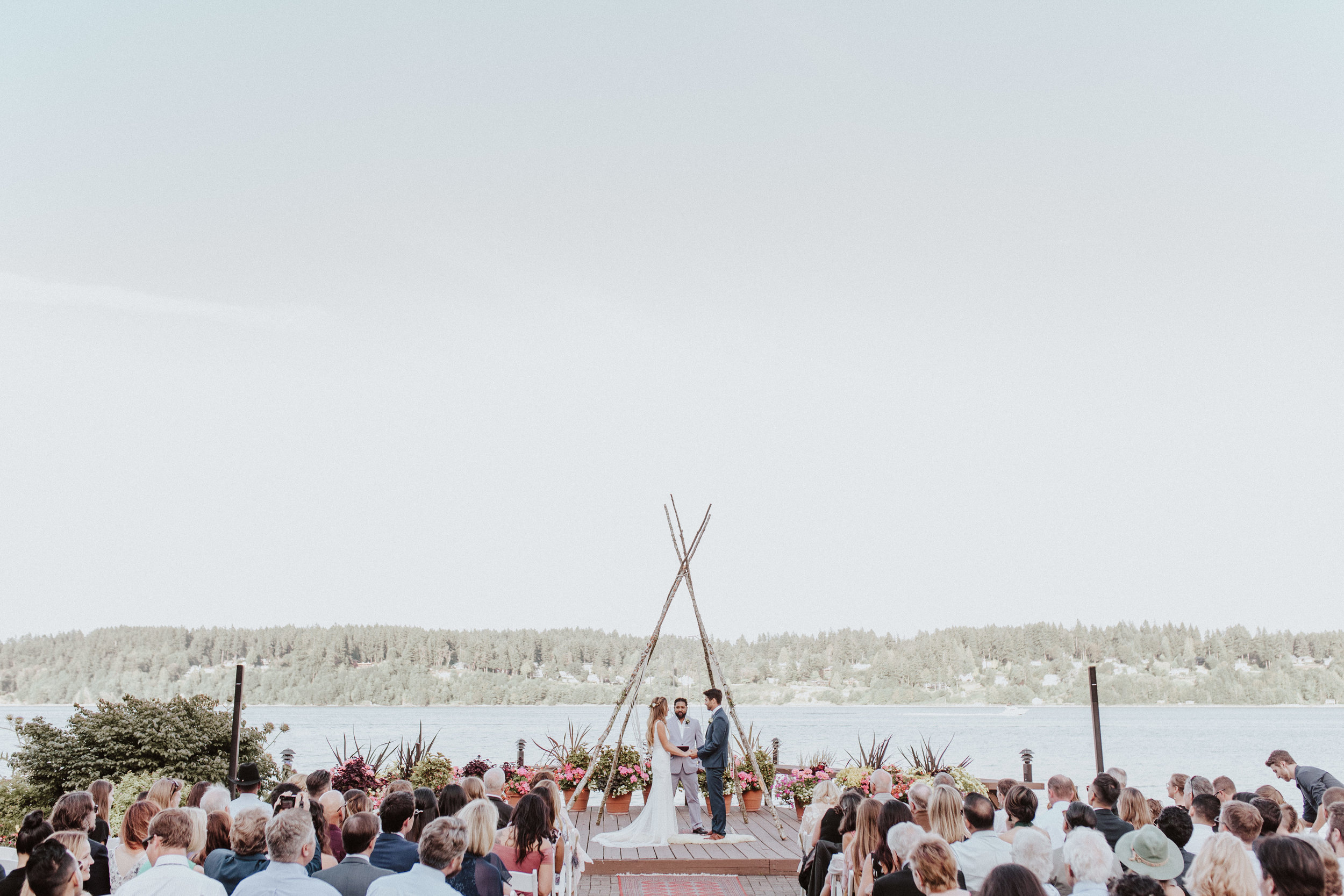 nice wedding ceremony kiana lodge