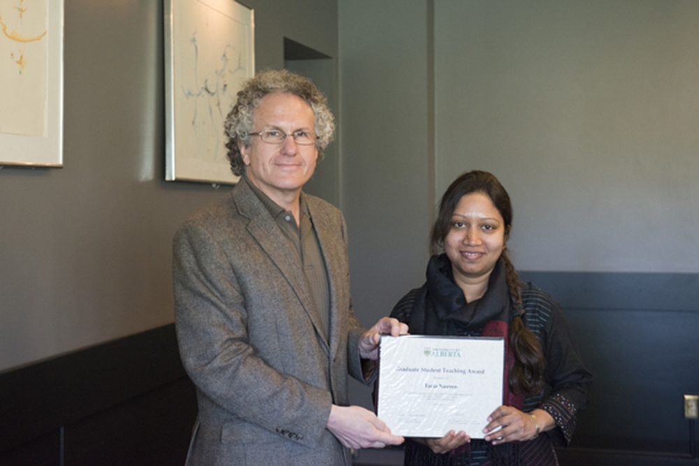Dr.Jonathan Schaeffer and Tania during the awarding ceremony