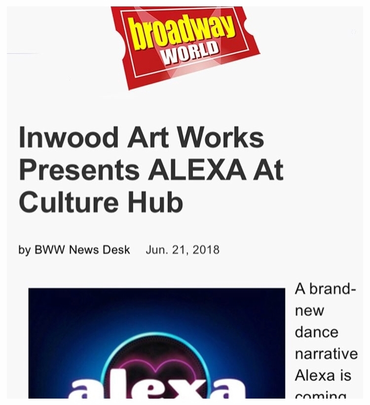 Cassie was featured in Broadway World in an article about her show Alexa. -