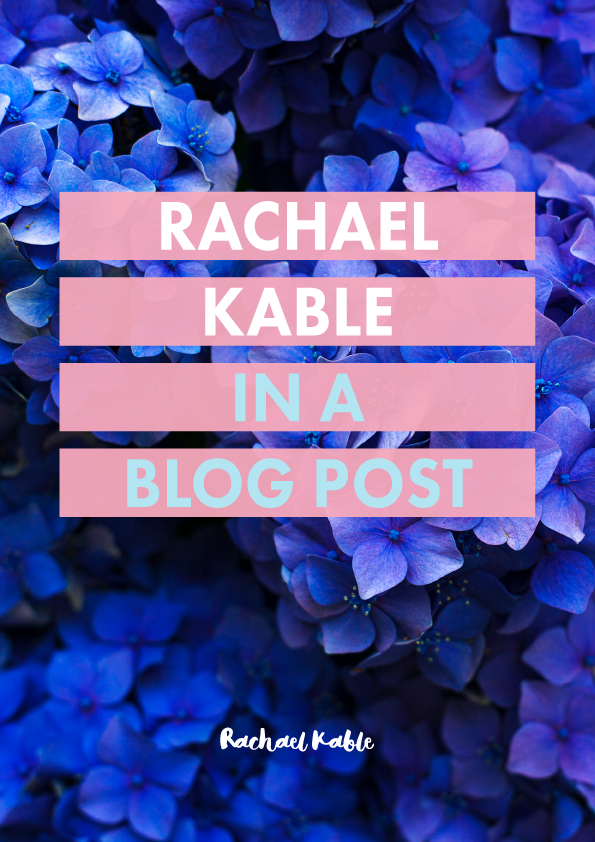 Rachael Kable in a Blog Post