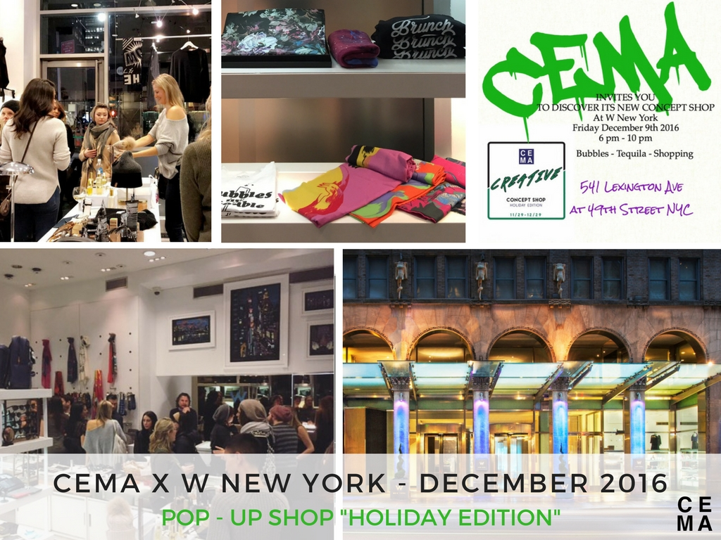 cema set up a temporary holiday shop at w new york before taking on a two year sales and marketing contract with the hotel