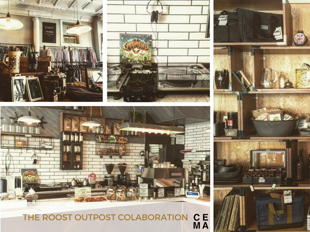 CEMA CREATIVE FACILITATED the design and concept for a COFFEE BAR/MENSWEAR PROVISION SHOP COLLABORATION WITH THE ROOST NYC. The space was RE-DESIGNED to create a working hybrid coffee shop with monthly activations.