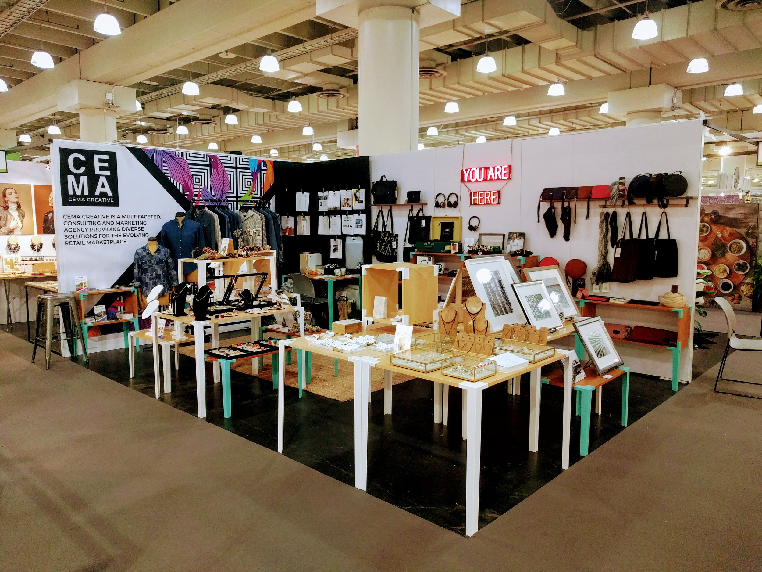 CEMA CREATIVE Represented 14 designers at the august 2017 NY NOw trade show. handling everything from orders, promotional material and follow up with some of the best specialty and lifestyle stores in the country.