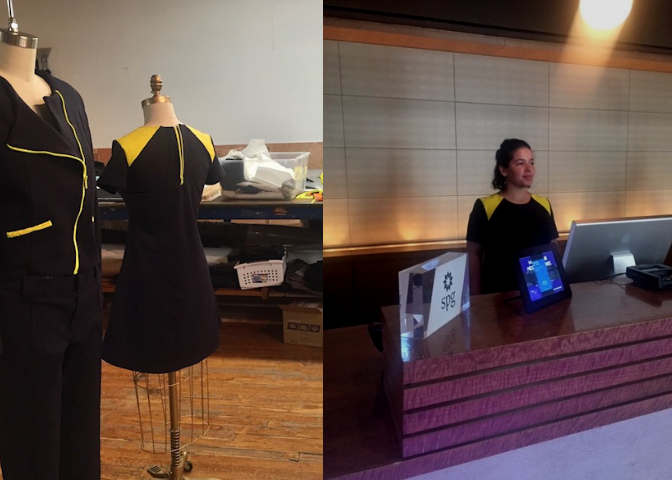 the cema team conceptualized, designed, fit corrected and domestically produced uniforms for the W Hoboken Hotel front of house staff.