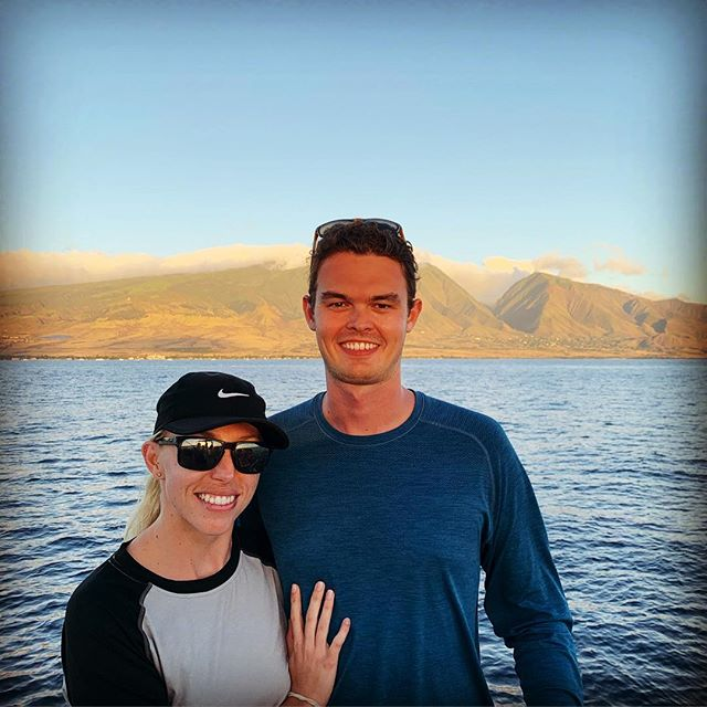 What a great way to end the daylight hours of 2018. Glad it was spent with @kfetts on the water. Didn't realize how lucky I was growing up on that rock in the background until I spent 3 years away from it. Happy New Year!!! #maui #happynewyear2019