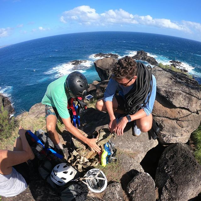 Got really vertical really fast. Thanks Rick for teaching me and Katy how to rappel. Couldn't have been a better backdrop either. . . . . . #optoutside #goprohero7 #gopro #maui #honoluabay #rappel #rappelling #epicadventure #thegreatoutdoors #discoverearth