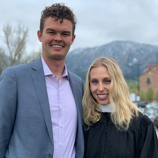 Congratulations to my amazing girlfriend Katy (@kfetts) for graduating from CU Boulder with her Master degree. It's been amazing to watch you excel in this new program and set the bar for future students. So proud of you! And glad @paulfetts could make it out too.