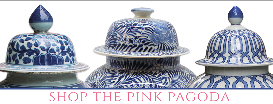 Shop blue and white at The Pink Pagoda