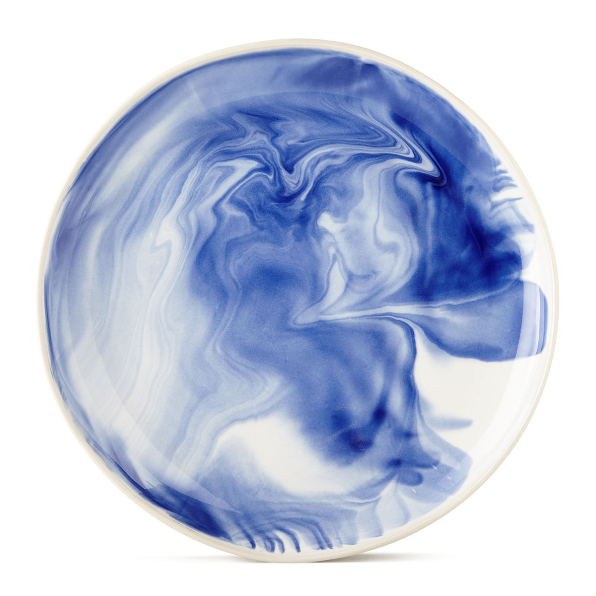Simon Pearce Blue Marbleized Dinner Plate