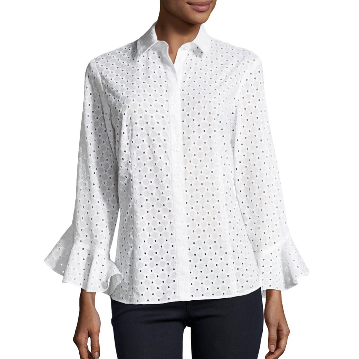 white flutter sleeve eyelet blouse nm.jpg