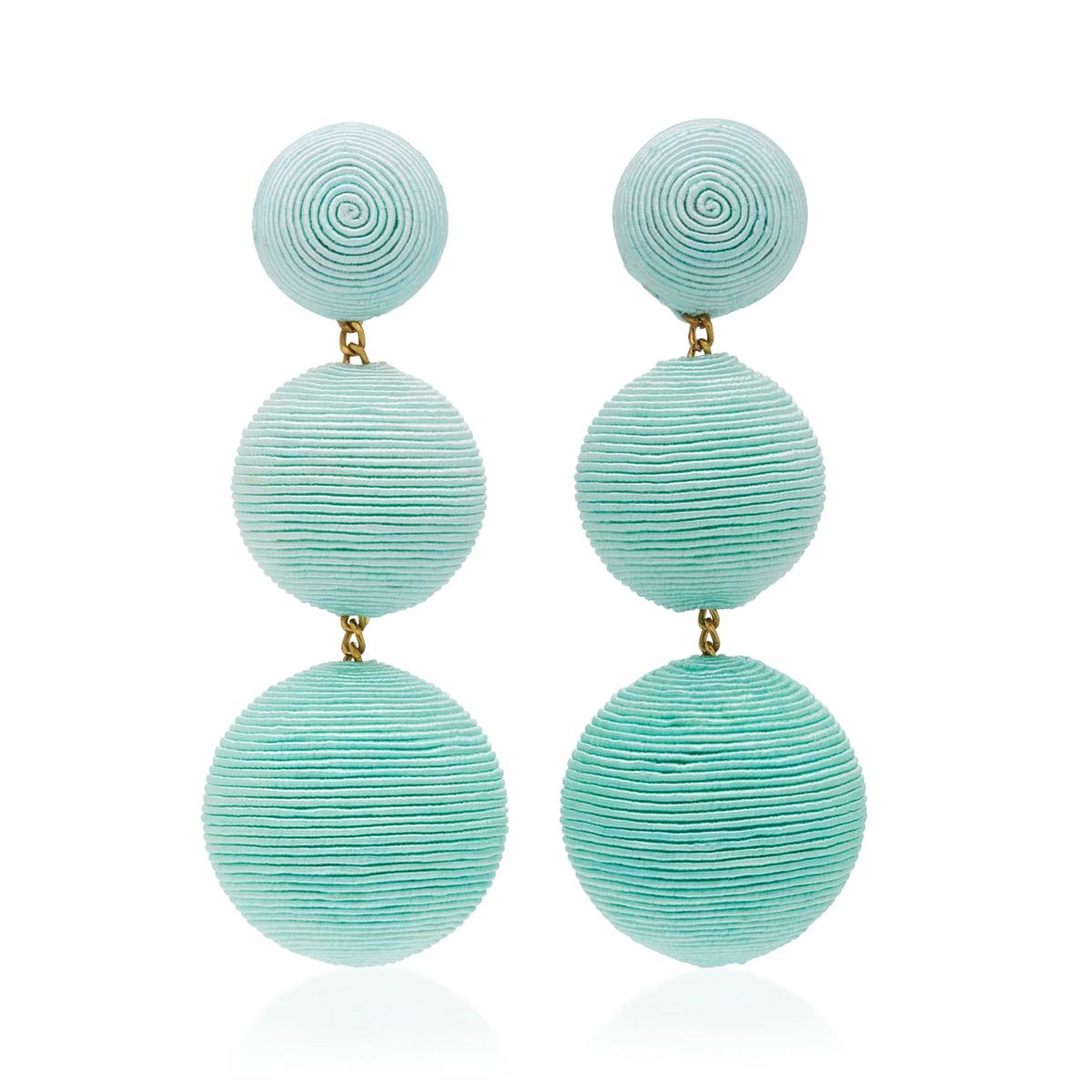 ombre ball earrings mint green.jpg