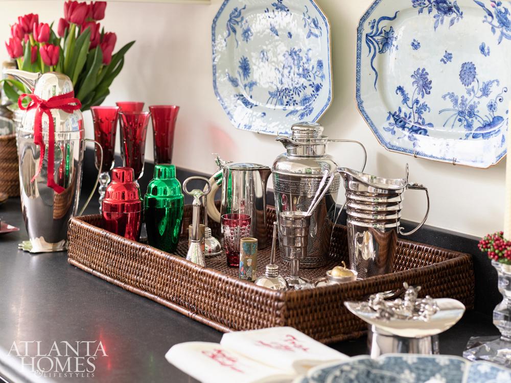 Atlanta interior designer, Judy Bentley, is ready for holiday festivities.