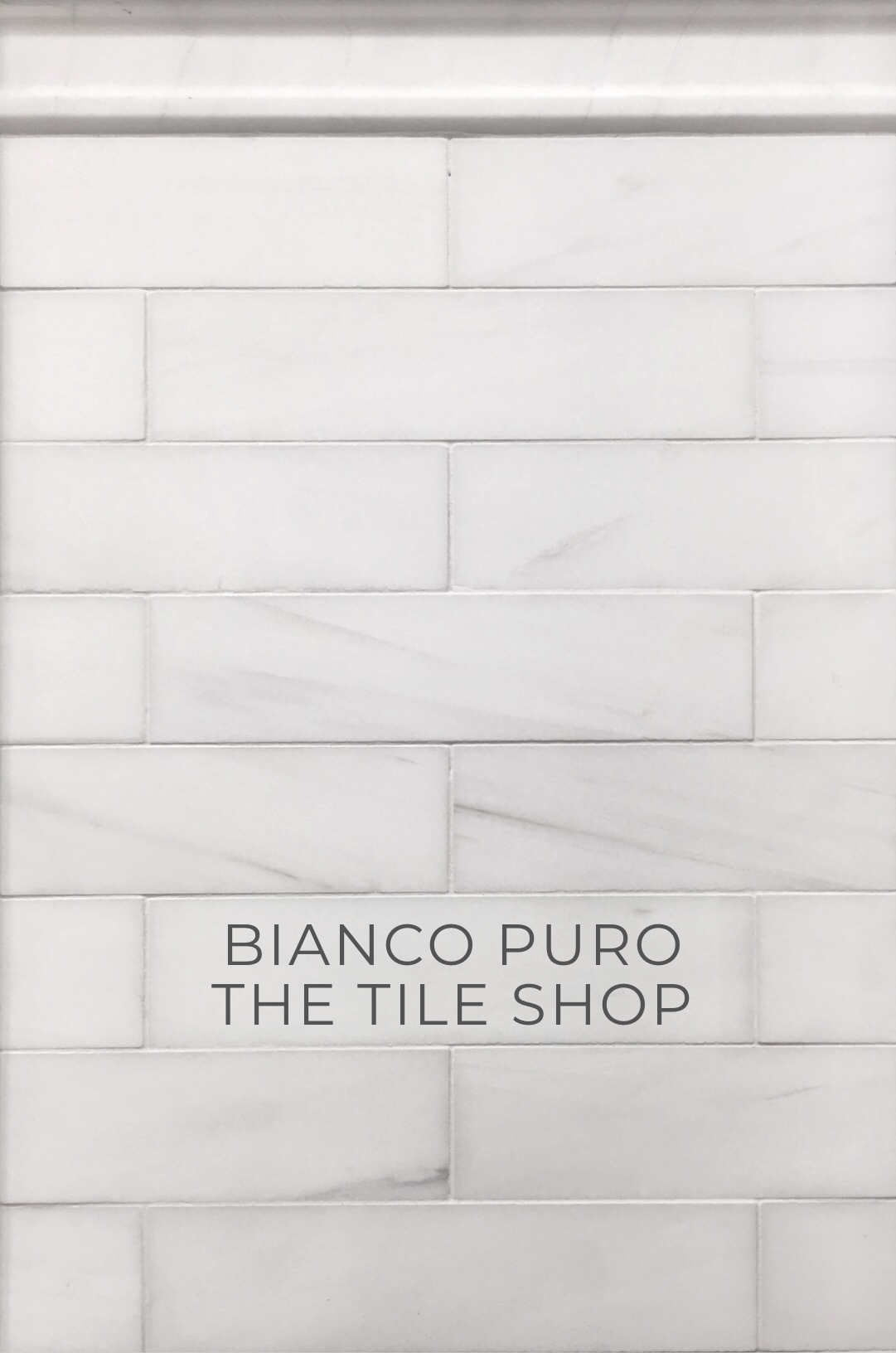 Bianco Puro honed marble tile from The Tile Shop