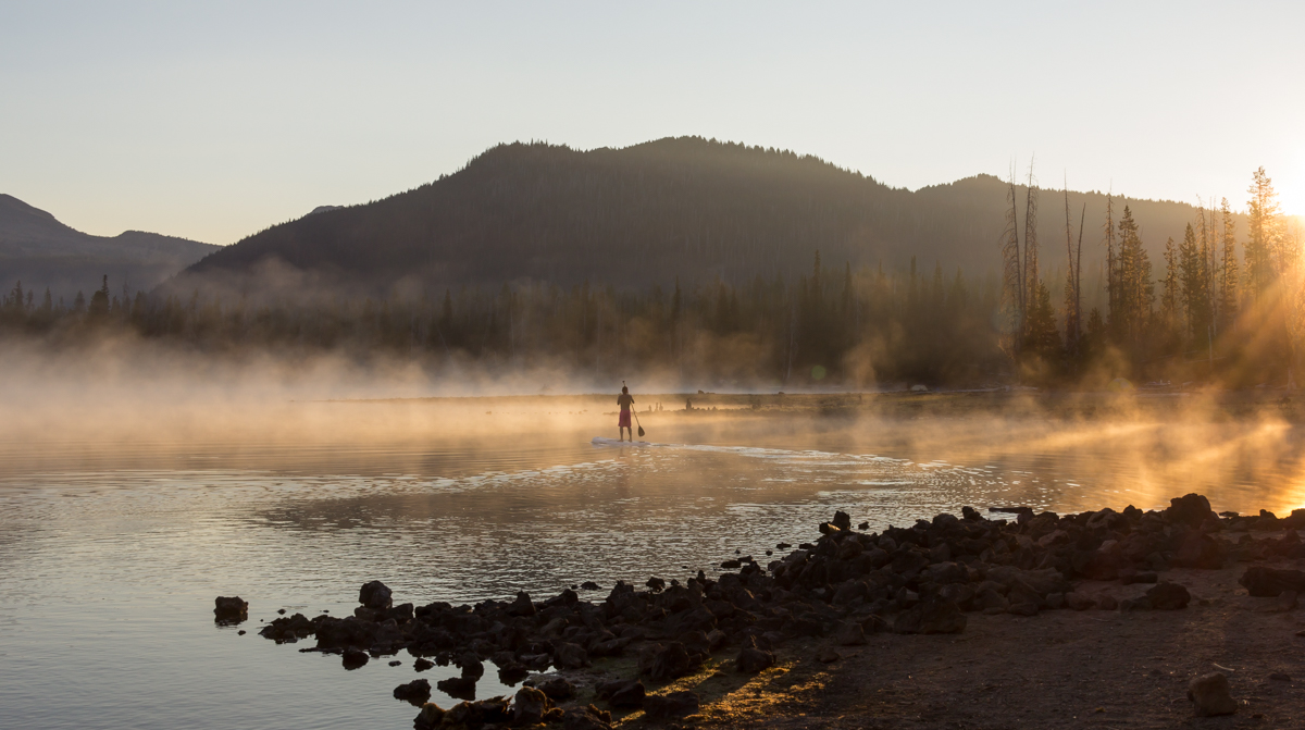 Sunrise at Sparks Lake.