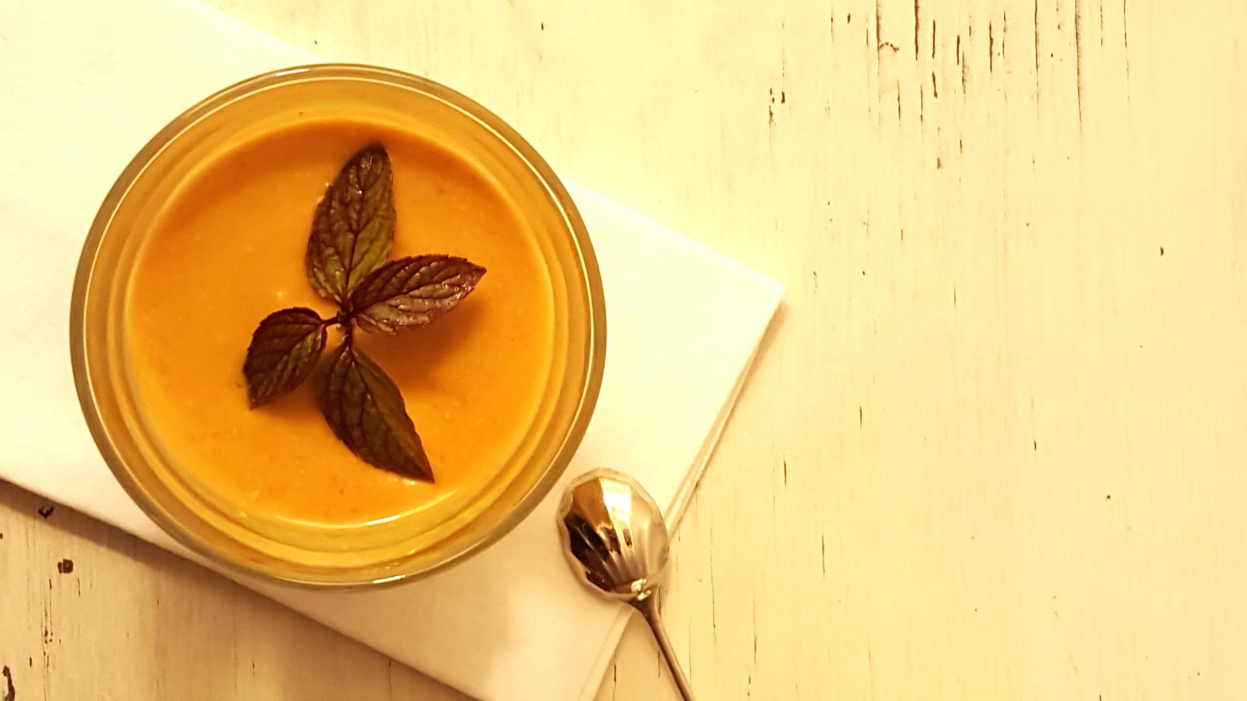 Golden gorgeousness. Mint leaf optional....