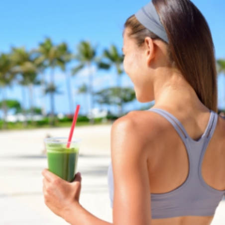 Green juice and palm trees.....what's not to like?