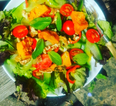 one very colourful salad