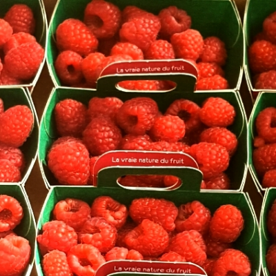 Fresh French raspberries