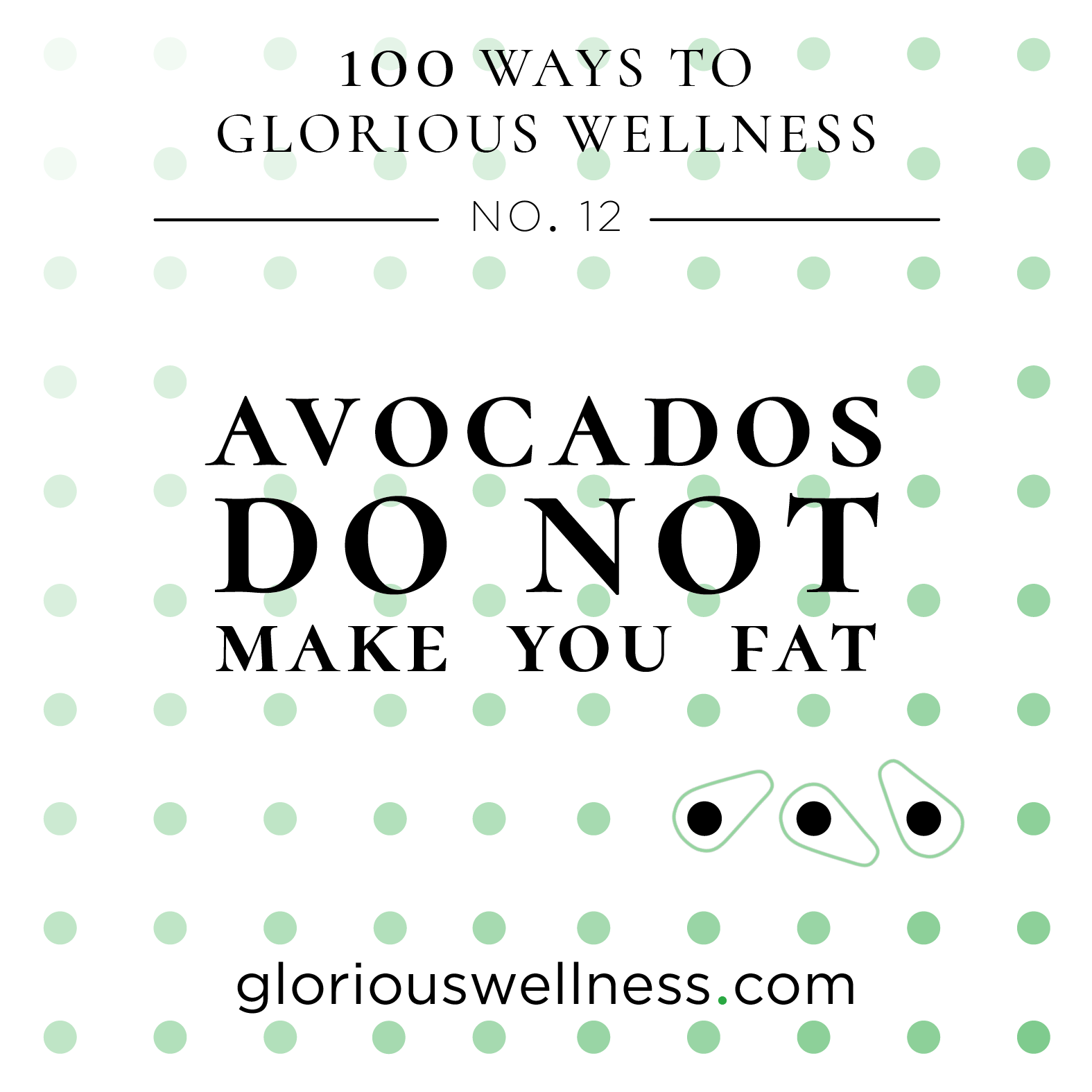 Avocados Do Not Make You Fat 100 Ways to Glorious Wellness Number Twelve - Health Coach to High Flyers.png