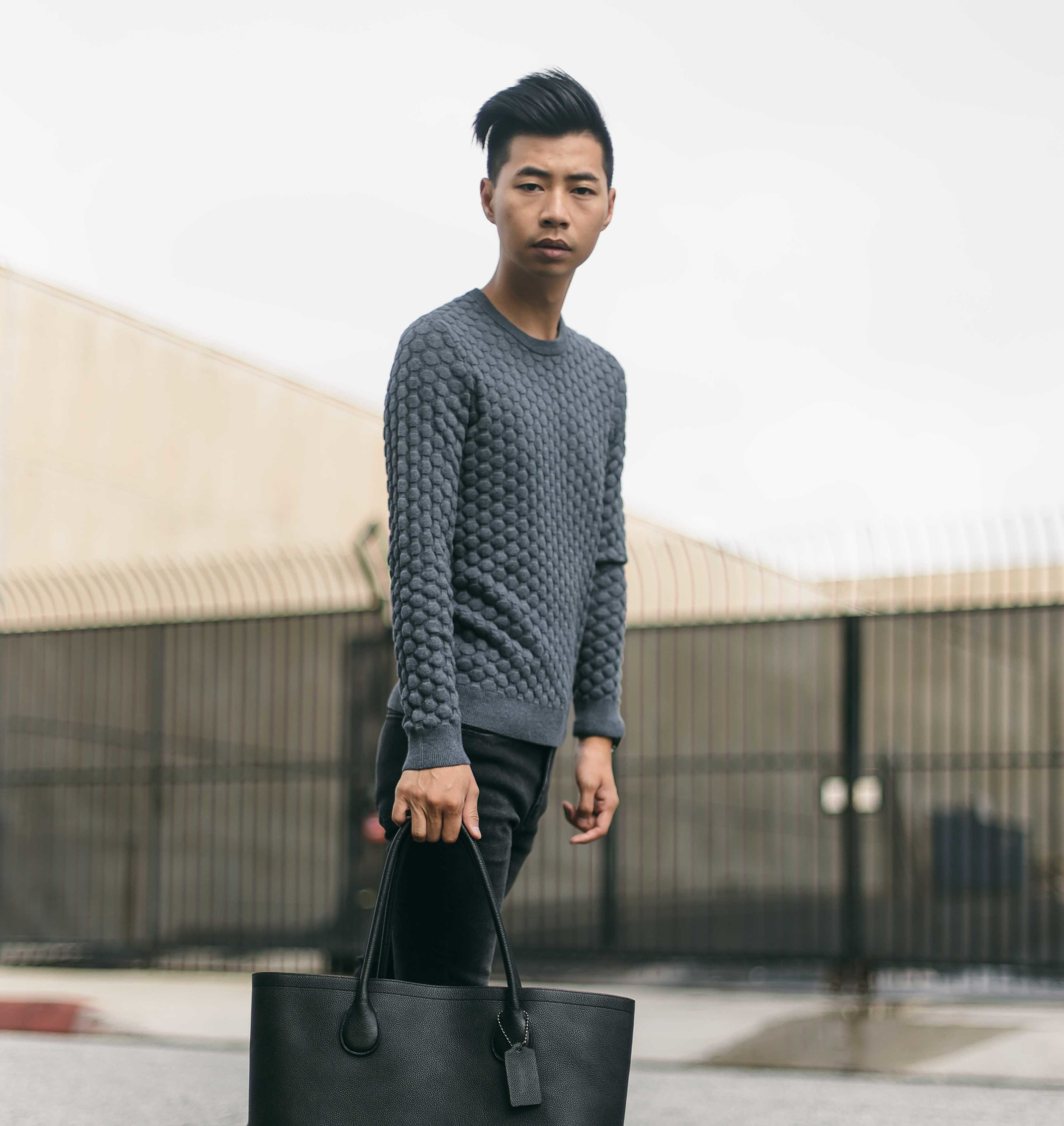 H&M   textured knit sweater