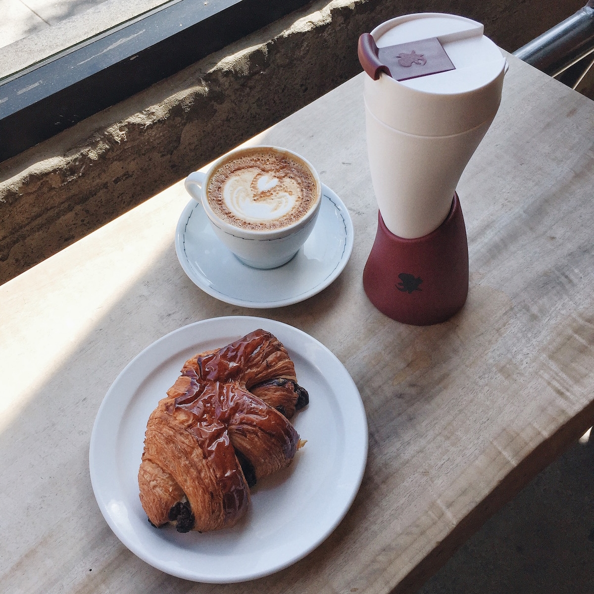 Breakfast:  Start your day at the local favorite,   Sightglass Coffee   with their signature soy latte + decadent chocolate croissant. The aroma from the roasting cacao beans alone will wake you up!