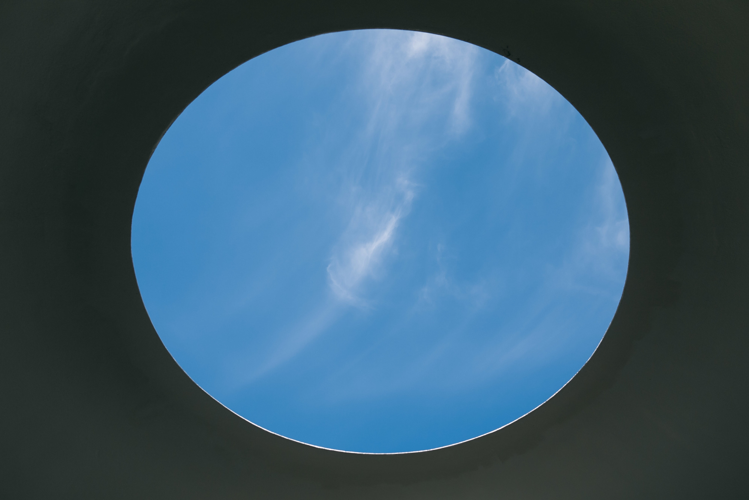James Turrell's Three Gems   - a permanent installment tucked away in the outdoor garden section of the museum.