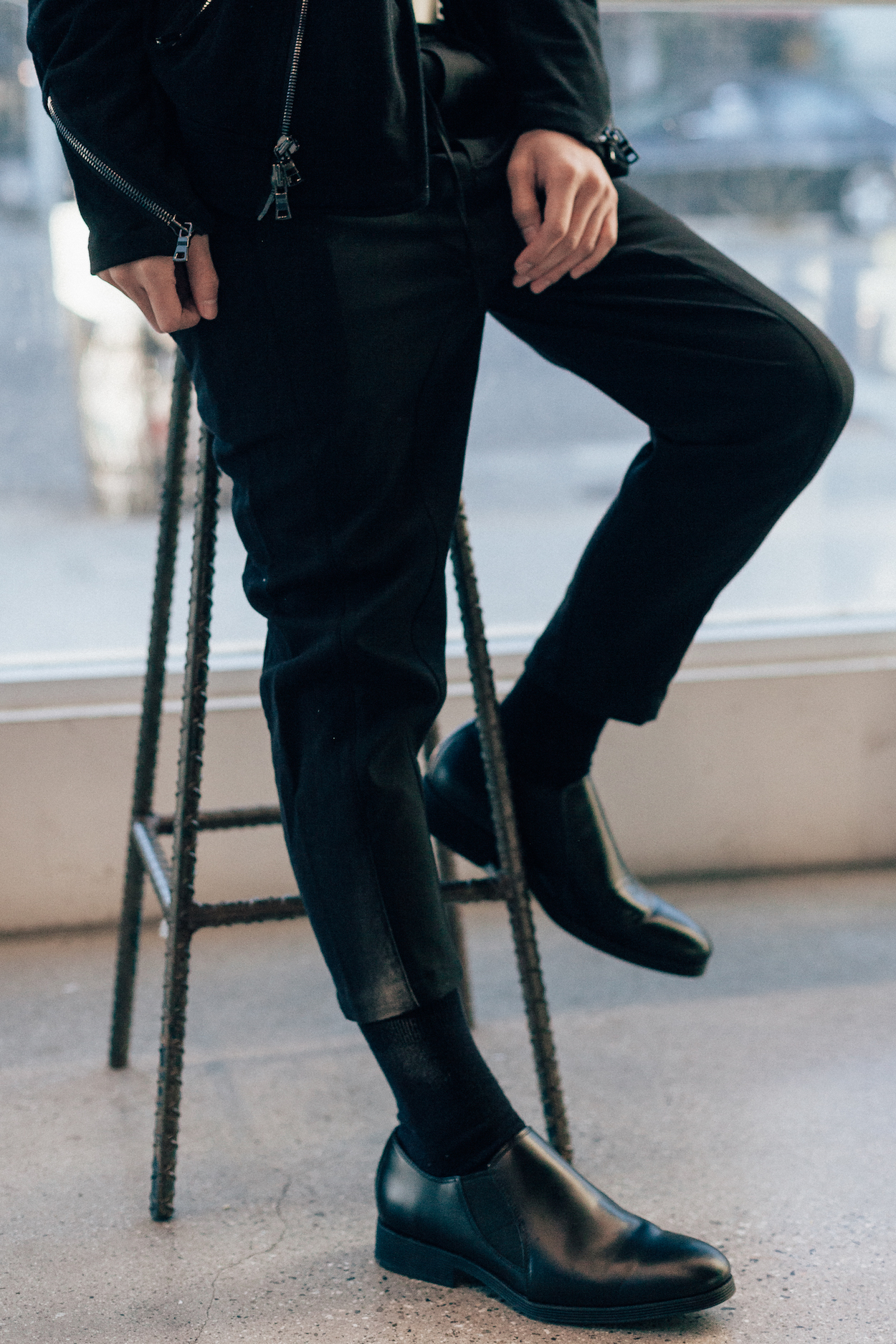 Chapter    trousers  ,   Clark's     Gabwell     Black Leather Shoes