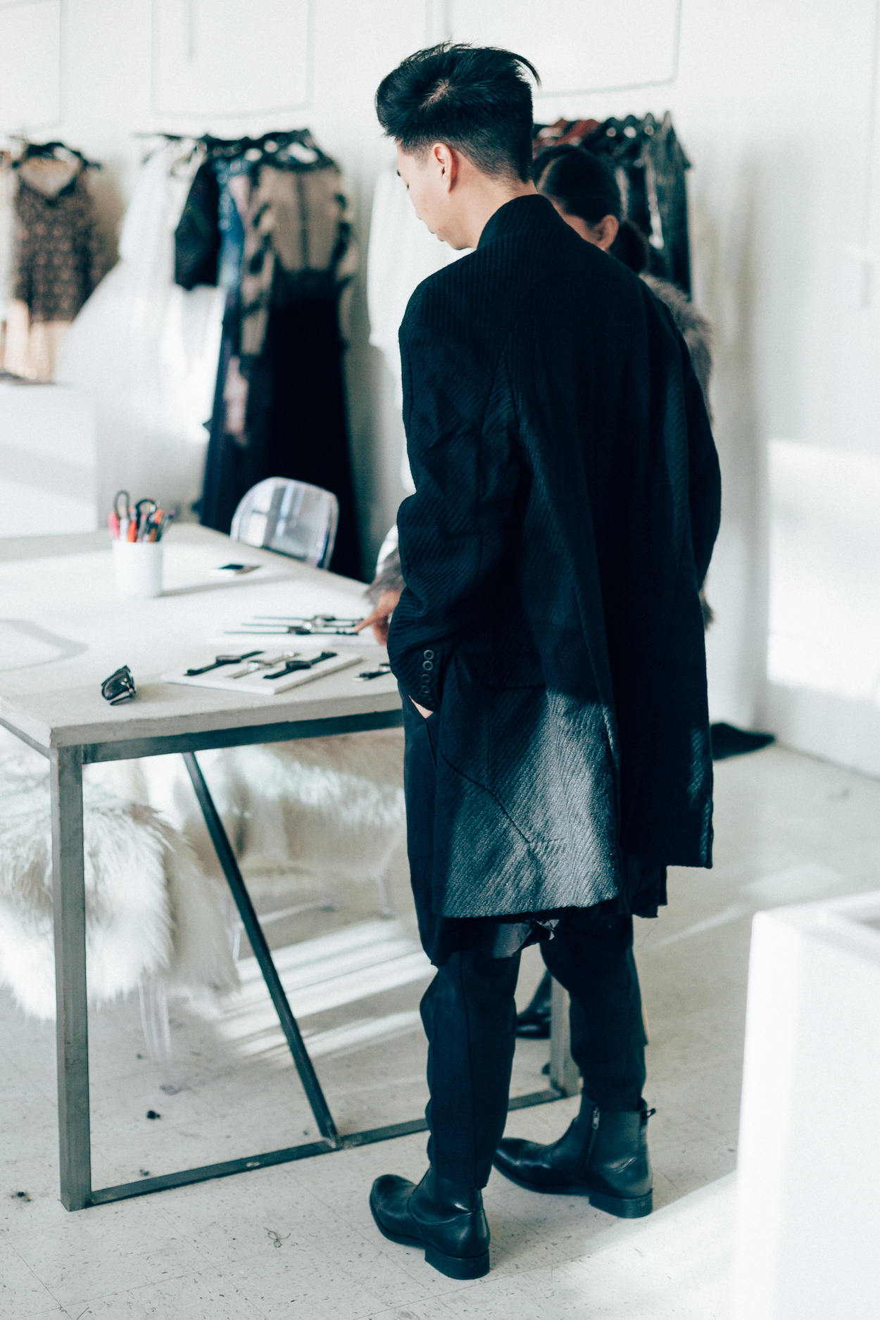 Chapter    wool coat   +   trousers  ,  Clark's    Gabwell zip-up boots