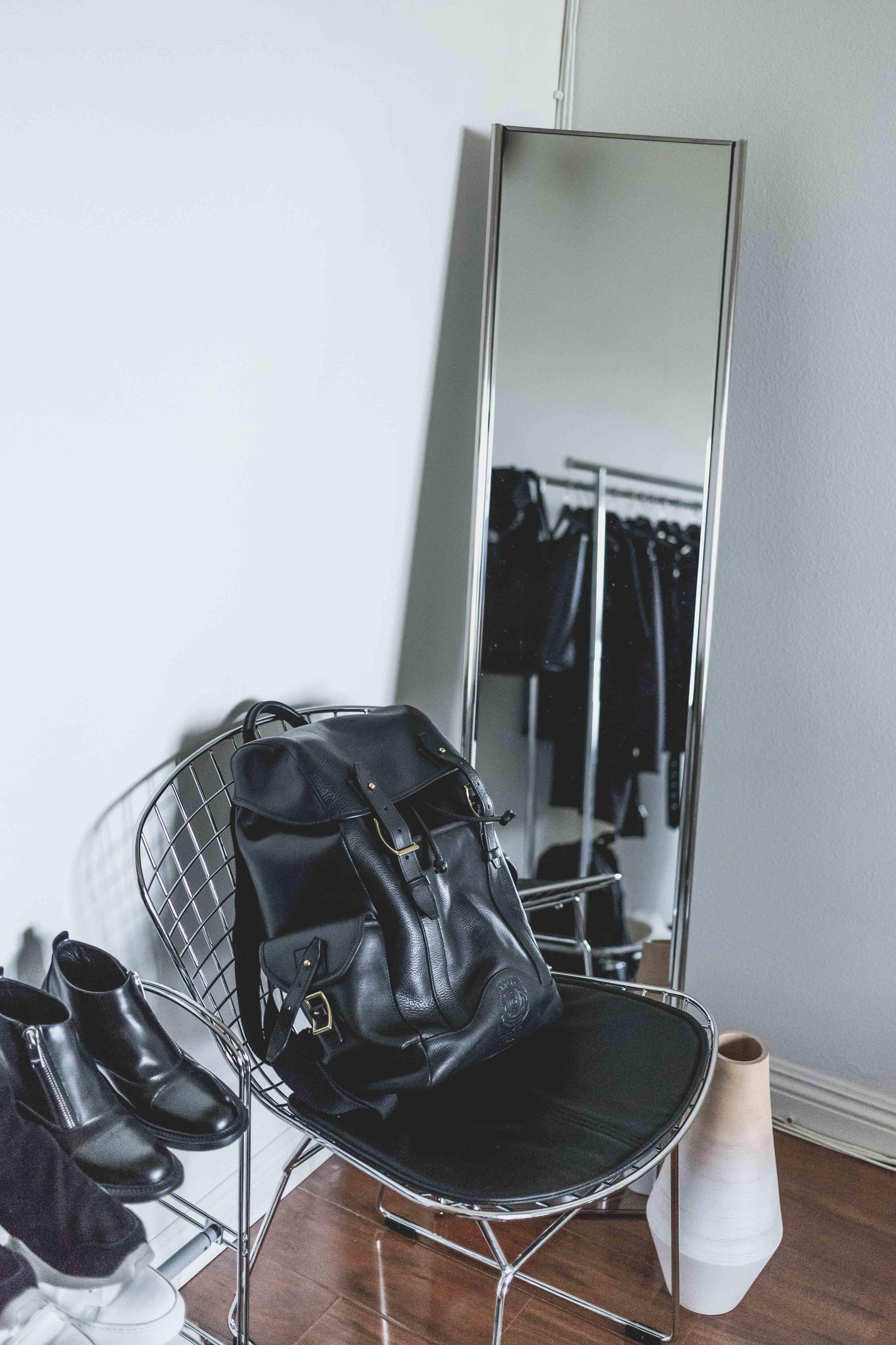 Ghurka    Leather Buckle Backpack