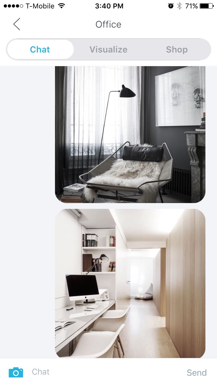 3. Send them specific images of what you envision for your space. I sent some Pinterest-ing images to Claire.