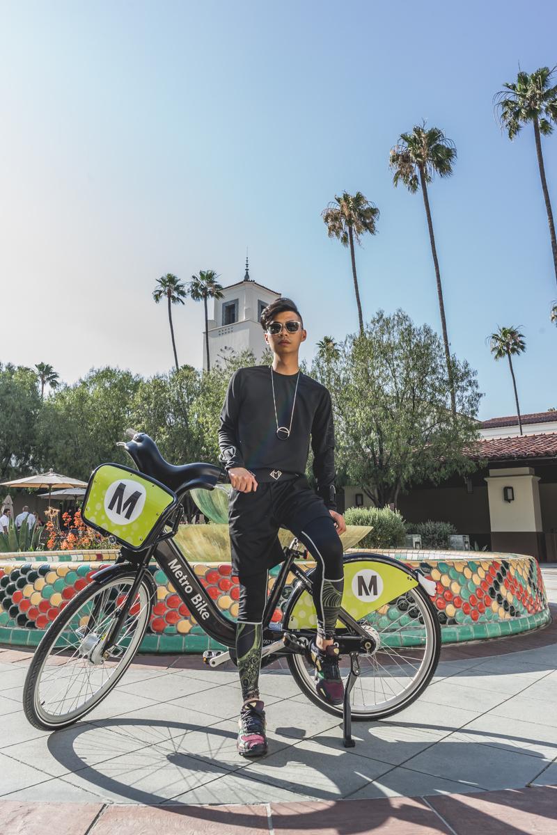 Alexander Wang sweatshirt  / MasterClass Apparel short and tights  /  Raf Simons x Adidas sneakers    Ph: Lisa Linh