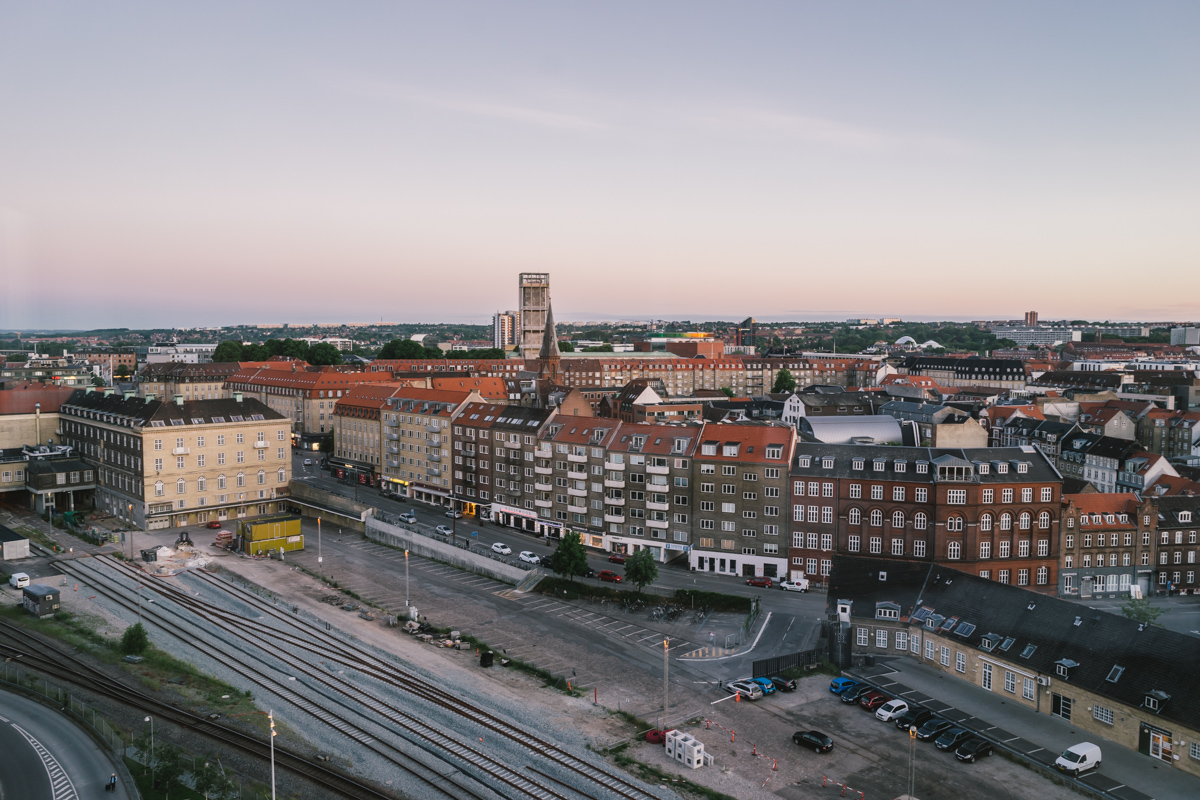 Aarhus at dusk, approximately 3:30am. The sun rises early and sets very, very late during the summer months.
