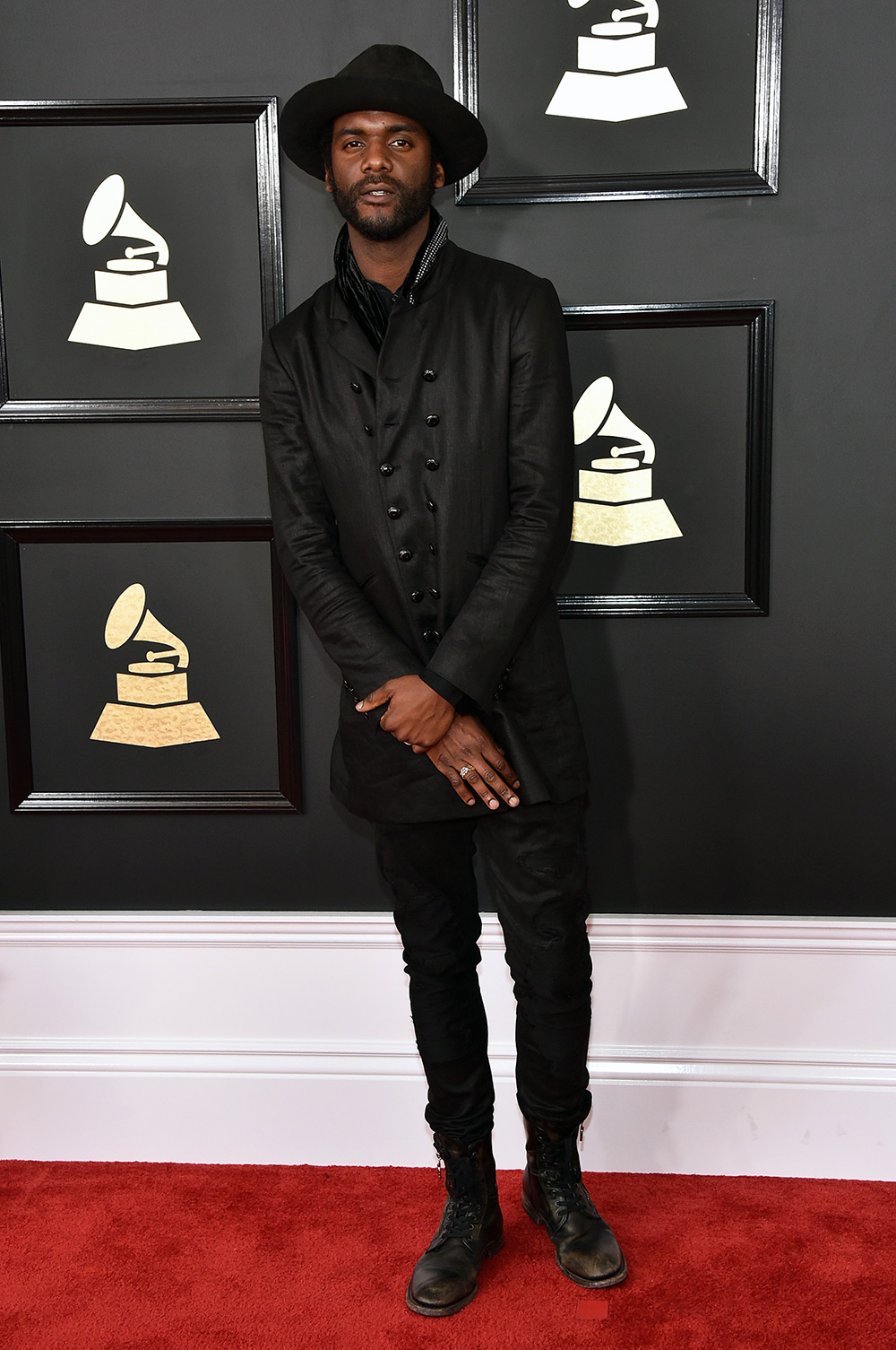 Gary Clark, Jr. kept it simple and minimal with a rocker edge in John Varvatos. The entire outfit silently screams rock n' roll in the best ways possible.