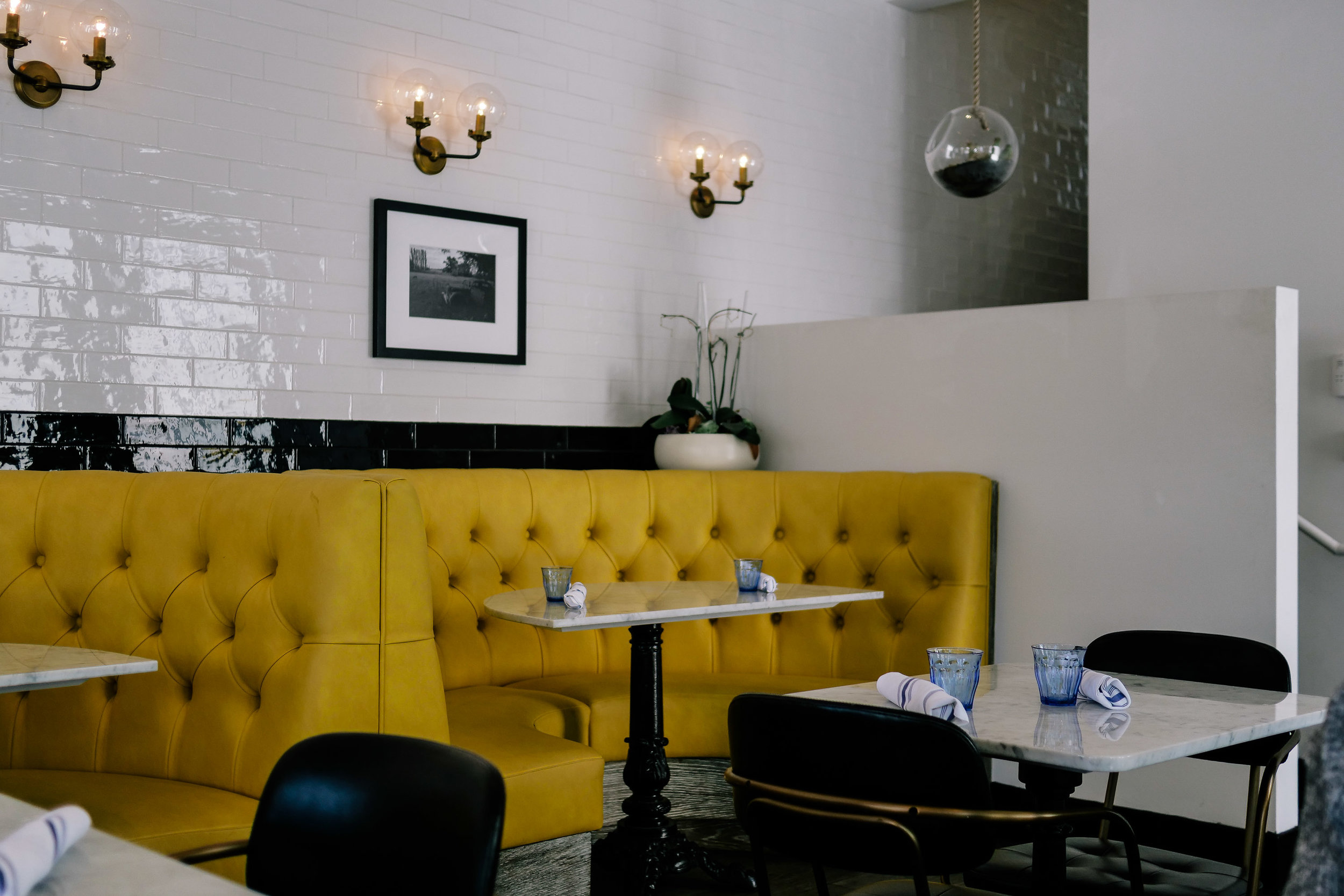Bright and airy interior decor at   The Butcher, The Daughter and the Cappuccino Maker