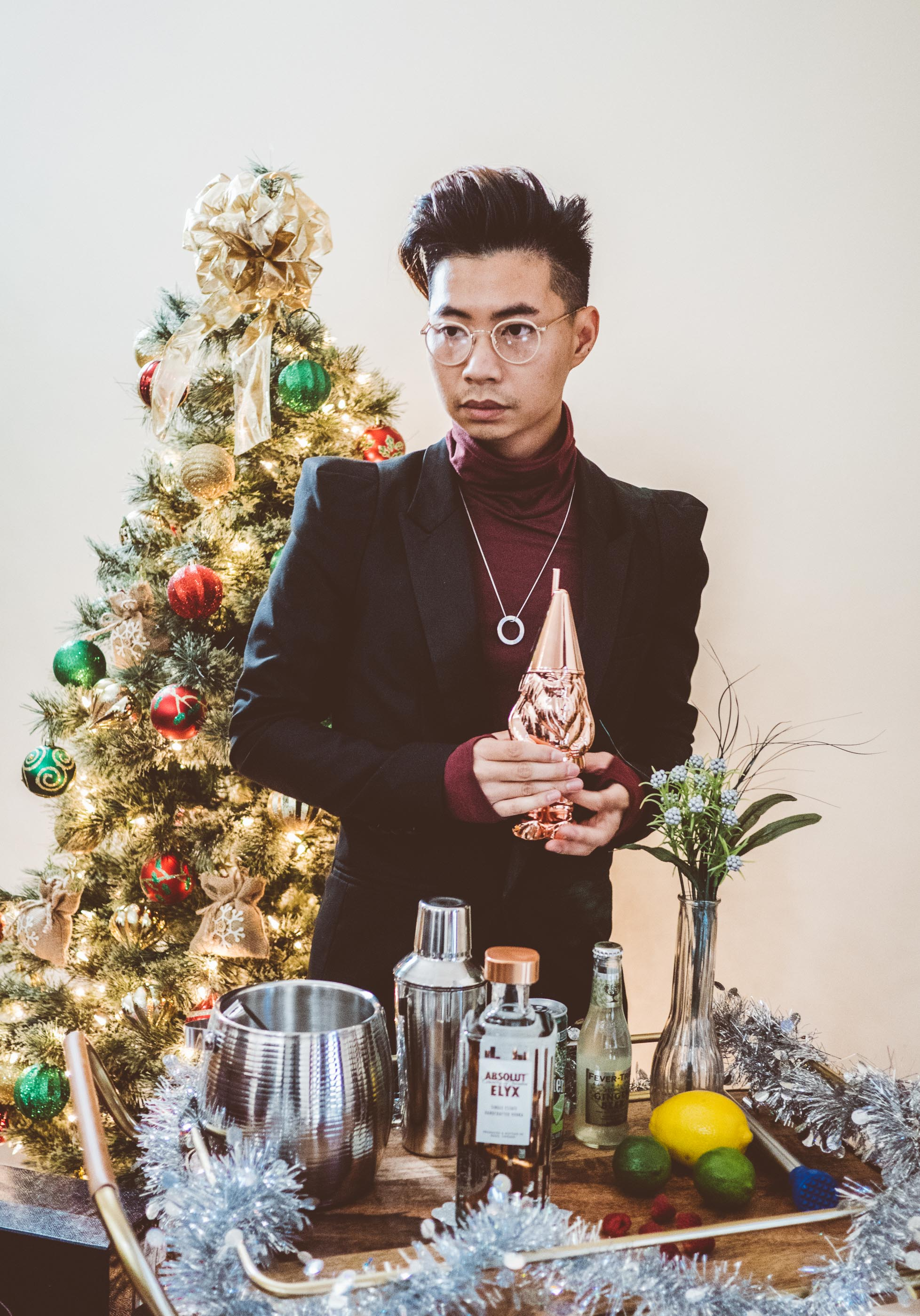 All good and joyous things start with - an Absolut Elyx holiday cocktail.