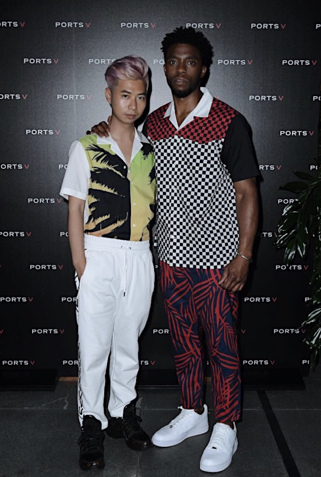 With the host, Chadwick Boseman, in   PORTS V Summer Drop II