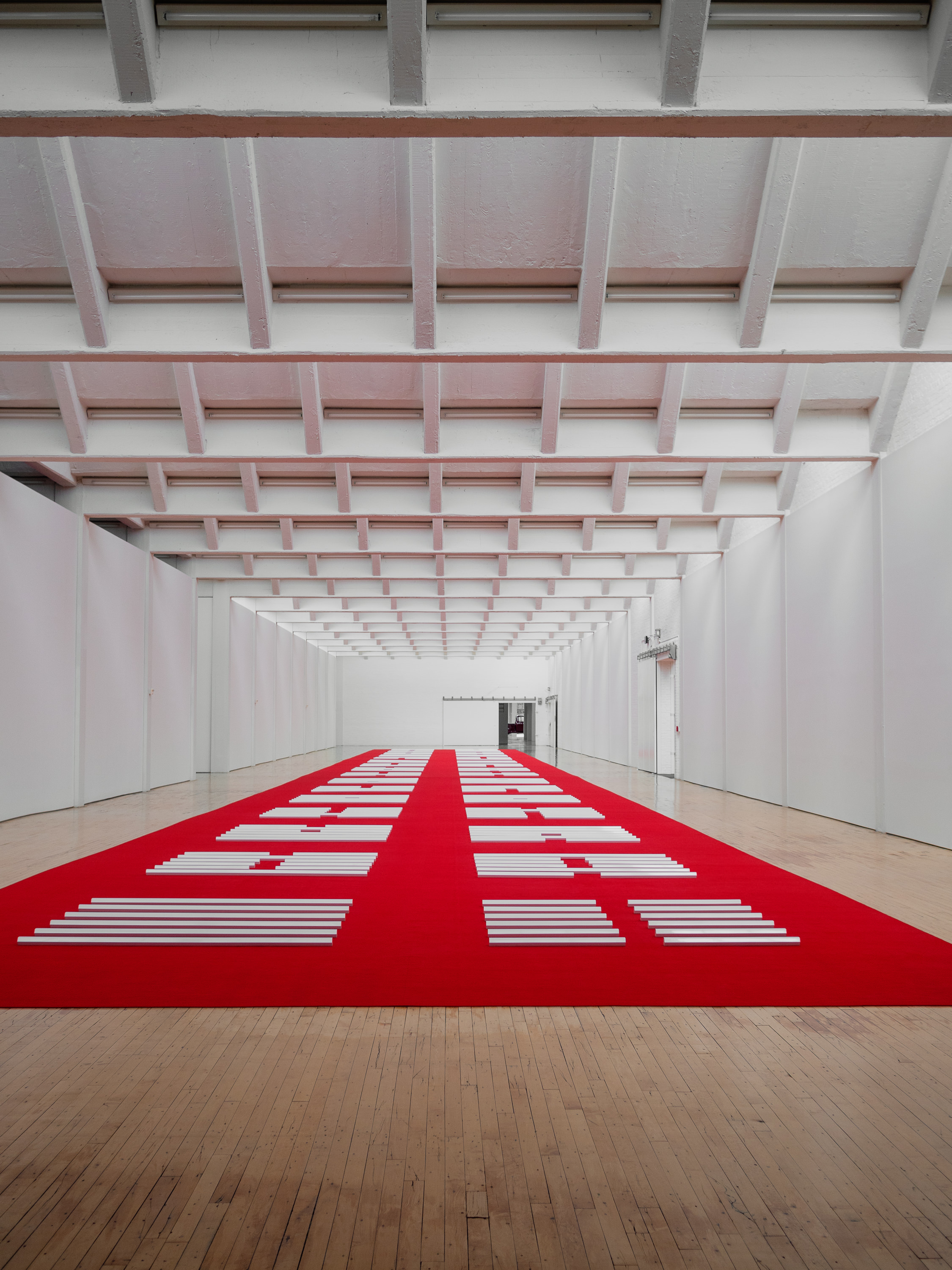 The red carpet experience by Walter De Maria.