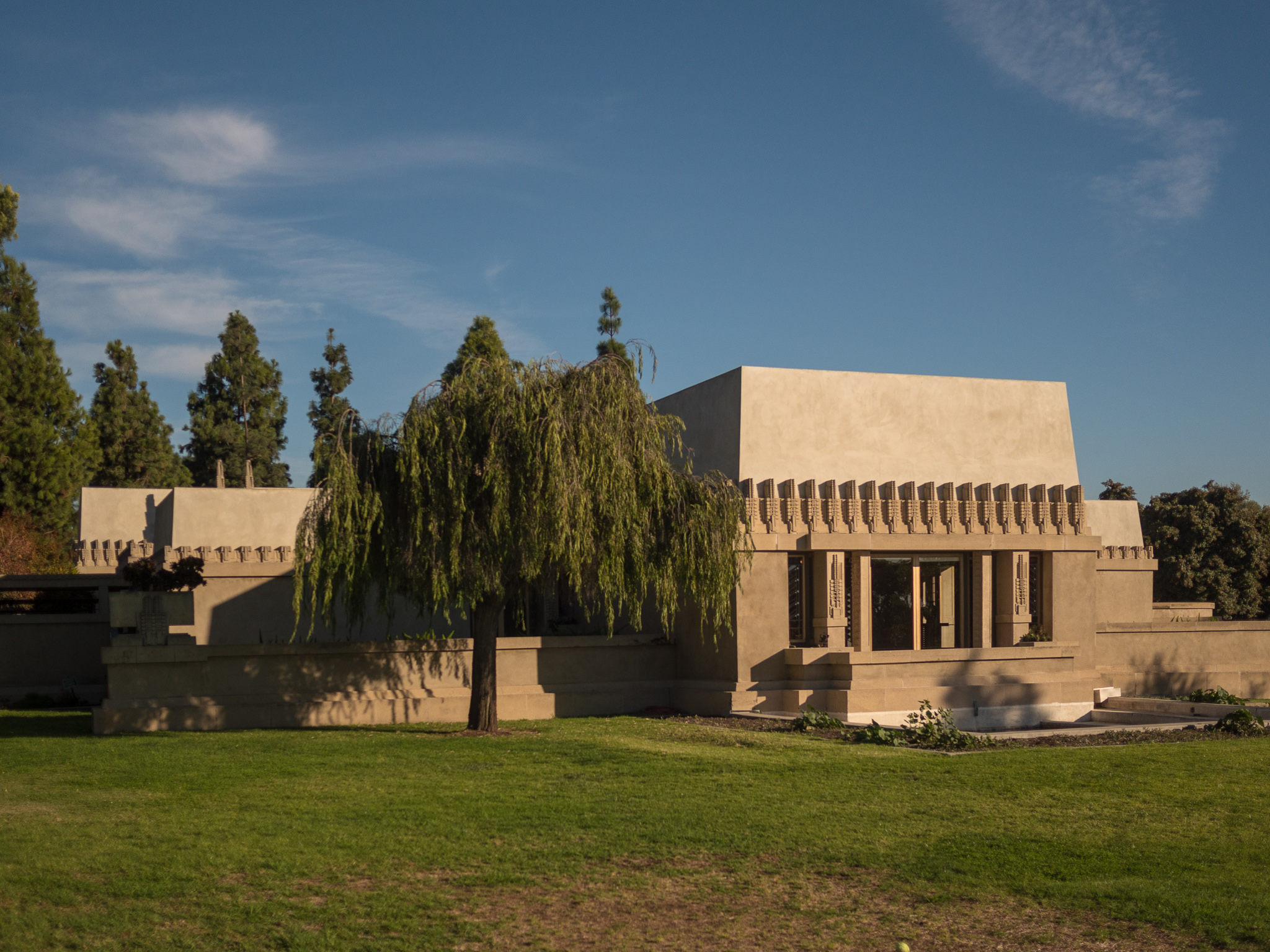 The Hollyhock House in all its original glory. So well-preserved and maintained that it will soon be declared as a UNESCO-designated site. Designed by renowned architect, Frank Lloyd Wright.