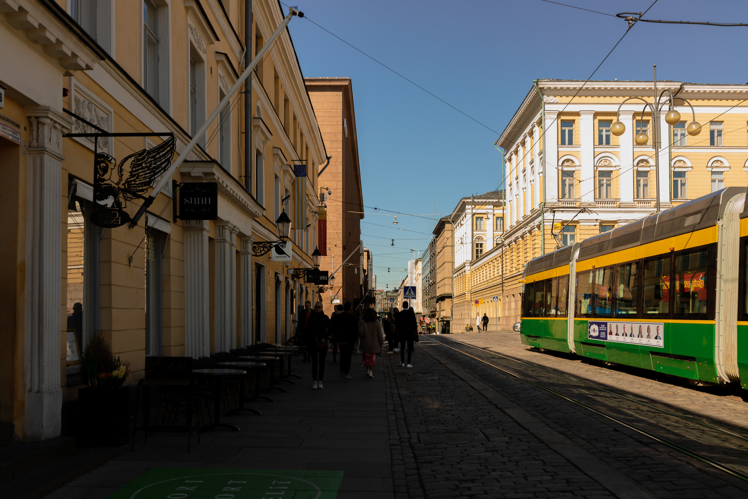 One of the easiest ways to get around Helsinki is to purchase a tram card. The tram stops almost everywhere in the city center and beyond.