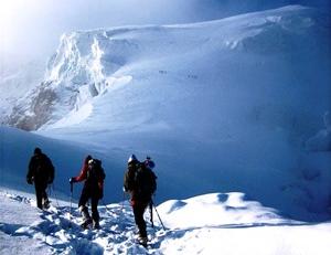 Alpinistes en haute altitude