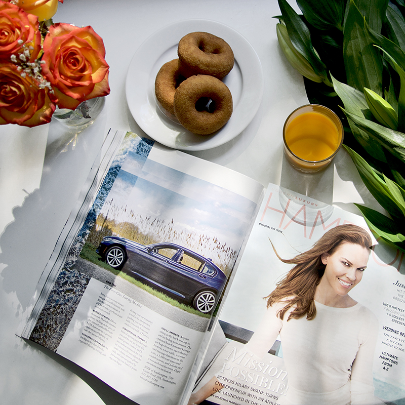 MD17 Weekend - The weekend is in full swing! Fresh #flowers, fresh juice, and good reading are a must. On the table #thismorning we find our featured client @BMWsouthampton in @HamptonsMagfor the all new 2017 #BMW7series. Thank you @4th.photo for your skills behind the lens